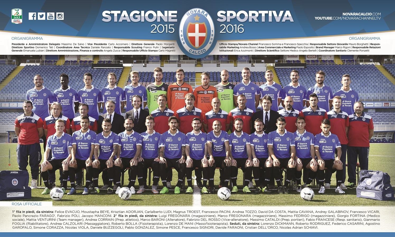 il novara calcio regala il poster ufficiale