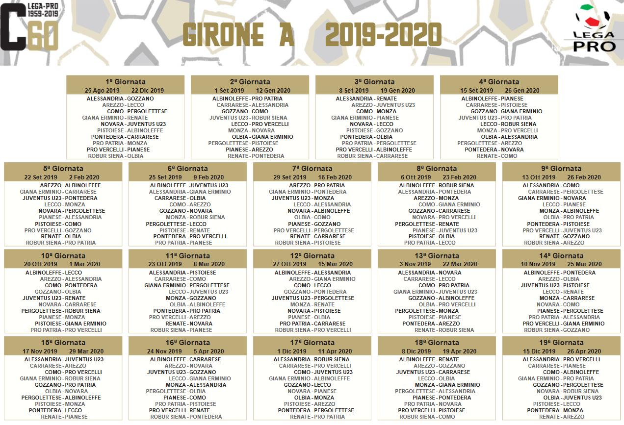 Calendario Imbottigliamento 2020.Calendario Serie C 2020 Calendario 2020